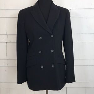 J. Crew vintage double breasted black blazer